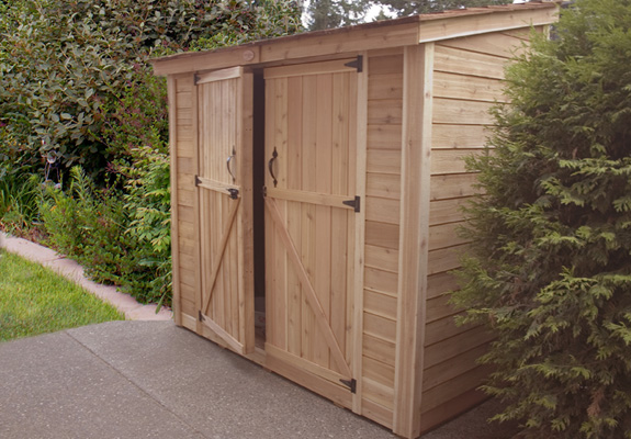 Outdoor Living 8'x4' Space Saver Shed-Double Doors